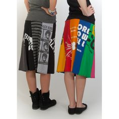 skirts made from old T-shirts! such an amazing idea! www.loveworn.net