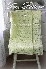 Diamond Stitch Baby Blanket - Free Crochet  Pattern