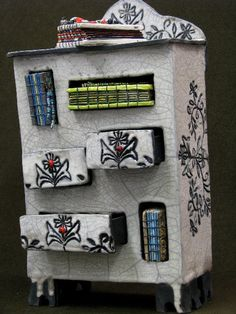 Treasure Chest with handmade books by Joy Raynor