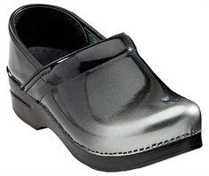 Nursing Shoes - Dansko Grey Ombre Patent Professional Clog