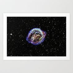 Kepler's Supernova Remnant Art Print by Planet Prints - $14.00