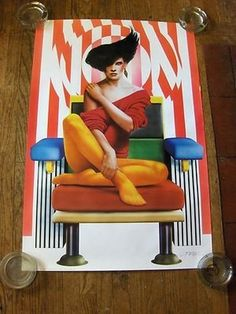 "SYD BRAK ""MEMPHIS LADY"" ART DECO POSTER 1985"