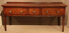 George III Fruitwood Dresser Banded in Walnut, Circa 1810