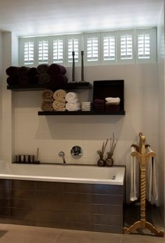 This could work if we had separate bath & tub - Badkamer - Jasno Shutters & Blinds