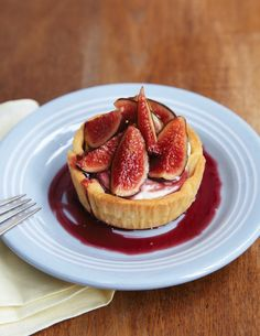 Jenny McCoy's Fresh Fig Tartlets with Goat Cheese & Red Wine Syrup | Nothing in the House