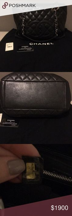 Chanel Caviar Black Large Tote Bag . Gently used . This bag has been sitting in my closet . Comes with dust bag & authenticity card. Pls feel free to ask any questions . CHANEL Bags Totes