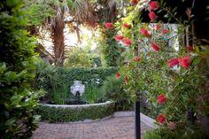 Courtyard fountain at the Dresser Palmer House, Savannah, GA