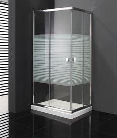 #Mamparas de #ducha modelo Titan 2 fijos + 2 correderas abierta al vértice. Cristales de 6mm, rodamientos metálicos con doble polea suspendida y pulsador liberador de hoja para facilitar la limpieza. Venta online, servicio inmediato y sin gastos de envio. Visitanos!