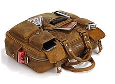 Travel bag leather utility travel cabin weekend outing overnight bag large retro satchel man bag