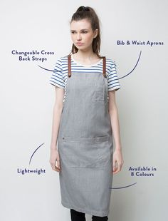 Our Henry Bib Apron in Pebble is one of the heroes of our cross-back apron collection and it's now even better with the release of our exclusive Fight the Fade fabric. This designer apron is made from our famous linen look fabric and is loaded with style, loved by food and design media and selected as the 'top pick' on The Design Files. Our Henry apron is completed with leather look straps and is the perfect look for cocktail bar staff and catering crews. OurFight the Fadefabric ens...