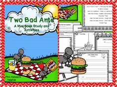 Time saving literature unit for Two Bad Ants written by Chris Van Allsburg. https://www.teacherspayteachers.com/Product/Two-Bad-Ants-Literature-Study-and-Activities-2003481