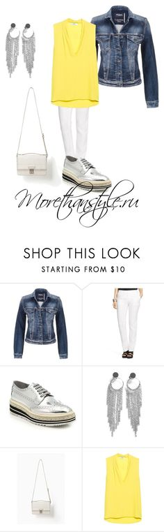 """""""White jeans outfit"""" by smileggal on Polyvore featuring мода, maurices, Lauren Ralph Lauren, Prada, Warehouse, 3.1 Phillip Lim, MANGO и plus size clothing"""