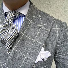 🔝 ❤ . . . . . Heather grey windowpane flannel DB. #men #menstyle #menswear #mensfashion #napoli #sprezzatuza #mensclothing #bespoke #dandy #gentleman #mensaccessories #mensstyle #tailor #milano #fashion #menwithclass #italy #style #styleformen #wiwt #suit #dapper #menwithstyle #ootd #daily #moda #stile #elegance #classy #mnswr . . . . Credits: @sirchristopherchu