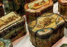 Antique biscuit tins by Kotomicreations, via Flickr