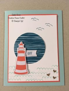 Anchor Paper, Stampin Up Paper Pumpkin, Pumpkin Cards, Nautical Cards, Beach Cards, Craft Kits, Stamping Up, Cardmaking, Paper Crafts