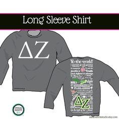 SHIRT Delta Zeta Creed Long Sleeve Shirt. $28.00, via Etsy.