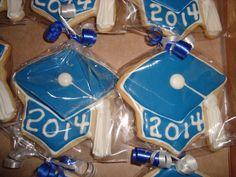 Graduation Cap Sugar Cookies individually wrapped!
