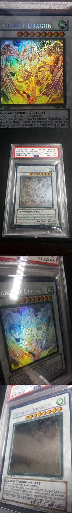 Yu-Gi-Oh Individual Cards 31395: ~Psa Gem Mint 10~ Stardust Dragon (Tdgs-En040) Ghost Rare 1St Edition Pop 6 -> BUY IT NOW ONLY: $1150 on eBay!