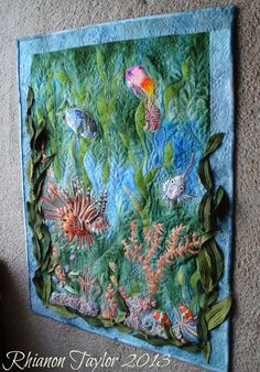 Embroidered Fish Wall Hanging