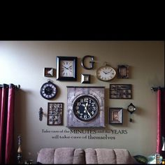 Love it! We need a clock wall!