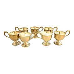 Silver plated coffee cups...like new!