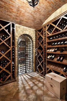 I don't care for wine but how cool would it be to have a wine cellar like this.