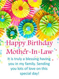 30 Exciting Birthday Cards For Mother In Law Images