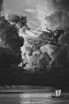 Norse Mythology & Vikings — Thor the God of thunder . Tatto Viking, Viking Art, Viking Tattoos, Viking Woman, Norse Mythology Tattoo, Greek Mythology Tattoos, Thor Tattoo, Thor Norse, Norse Pagan