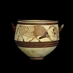 Vaso Decorato con Tori e Uccelli, Cult. Micenea, 1300-1200 a.C., Tomba 83 Enkomi, Cipro