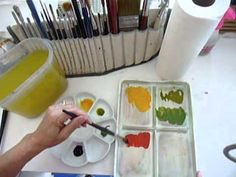 Watercolor Demo - From The Flower Garden To The Studio