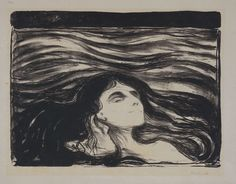 Edvard Munch. Waves of Love. lithograph