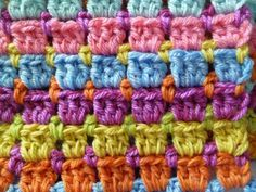 Block stitch and Interlocking block stitch - Free crochet
