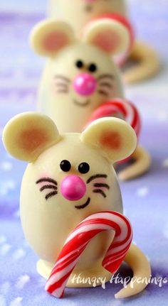 Triple Chocolate Christmas Truffle Mice Recipe
