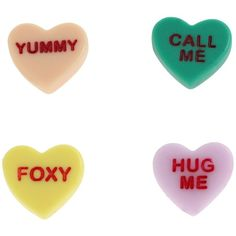 Harajuku Lovers - Candy Girls Candy Hearts Stud Earrings Set (Multi) -... ($20) ❤ liked on Polyvore