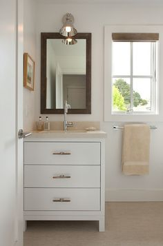 Contemporary Bathroom by Artistic Designs for Living, Tineke Triggs  LOVE the vanity...  so simple.