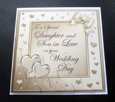 Son Daughter in Law Wedding Cards | Details about Daughter & Son In Law Wedding Day Card - 4 Colours