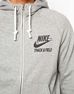 Nike Hoodie With Track And Field Logo