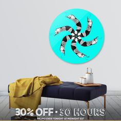 Discover «MANDALA SerpentMan-sky», Limited Edition Disk Print by Cora de Lang - From 95€ - Curioos