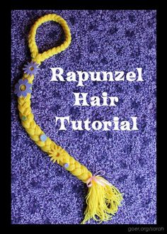 Tangled in Yellow Yarn: Rapunzel Hair Tutorial by Sarah at Things I Make (www.goer.org/sarah)