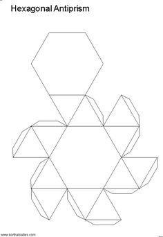 Net hexagonal antiprism