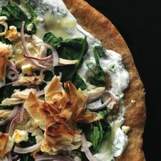 Chicken Spanakopita Pizza - Clean Eating - Clean Eating
