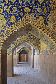 Imam (Shah) Mosque in Isfahan, Iran. Inshallah their government improves in my lifetime so I can safely visit and bask in the glory of Persian architecture like this!