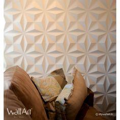 """Ces panneaux muraux 3D sont à la fois écologique par leur matière """" la bagasse """" et moderne par leur design qui donne une nouvelle dimension à votre intérieur"""