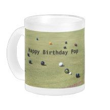 Lawn_Bowls,_Happy Birthday_Frosted_Glass_Beer_Mug Frosted Glass Mug