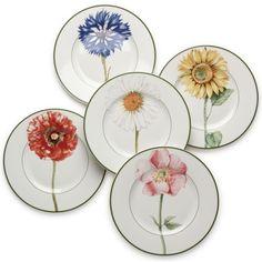 Villeroy & Boch Flora Assorted Salad Plates found on Polyvore - Arts de la table - Villeroy & Boch