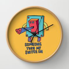 Switch Wall Clock by PINT GRAPHICS - $30.00