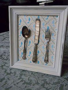 #Vintage #silverware decor