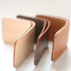 I love this simple wallet design. More