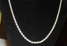 Very Nice Men's Sterling Silver Rope Necklace PA9