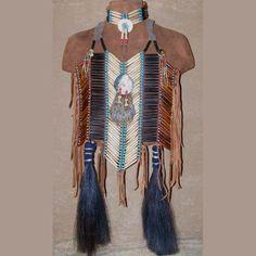 Native American Style Melon Shell  Abalone Breastplate Choker Set. $575